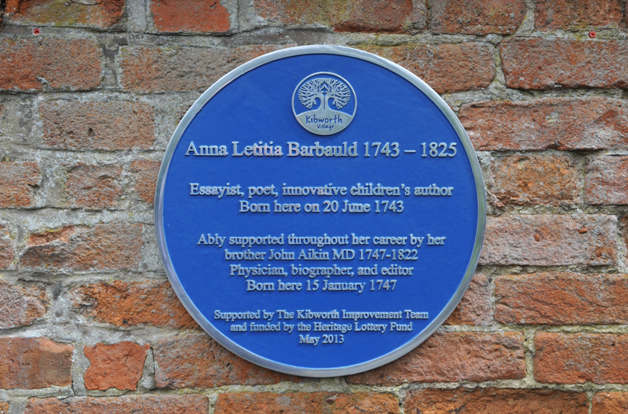 Anna Letitia Barbauld Plaque