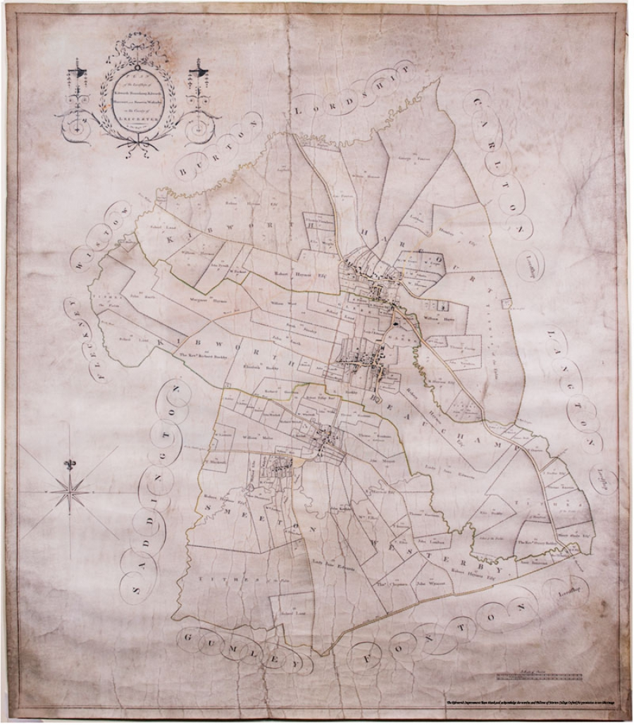 Kibworth Harcourt Map 1781