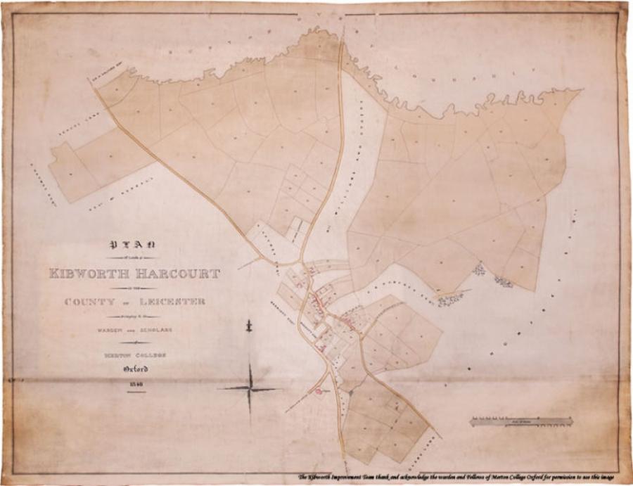 Kibworth Harcourt Map 1884