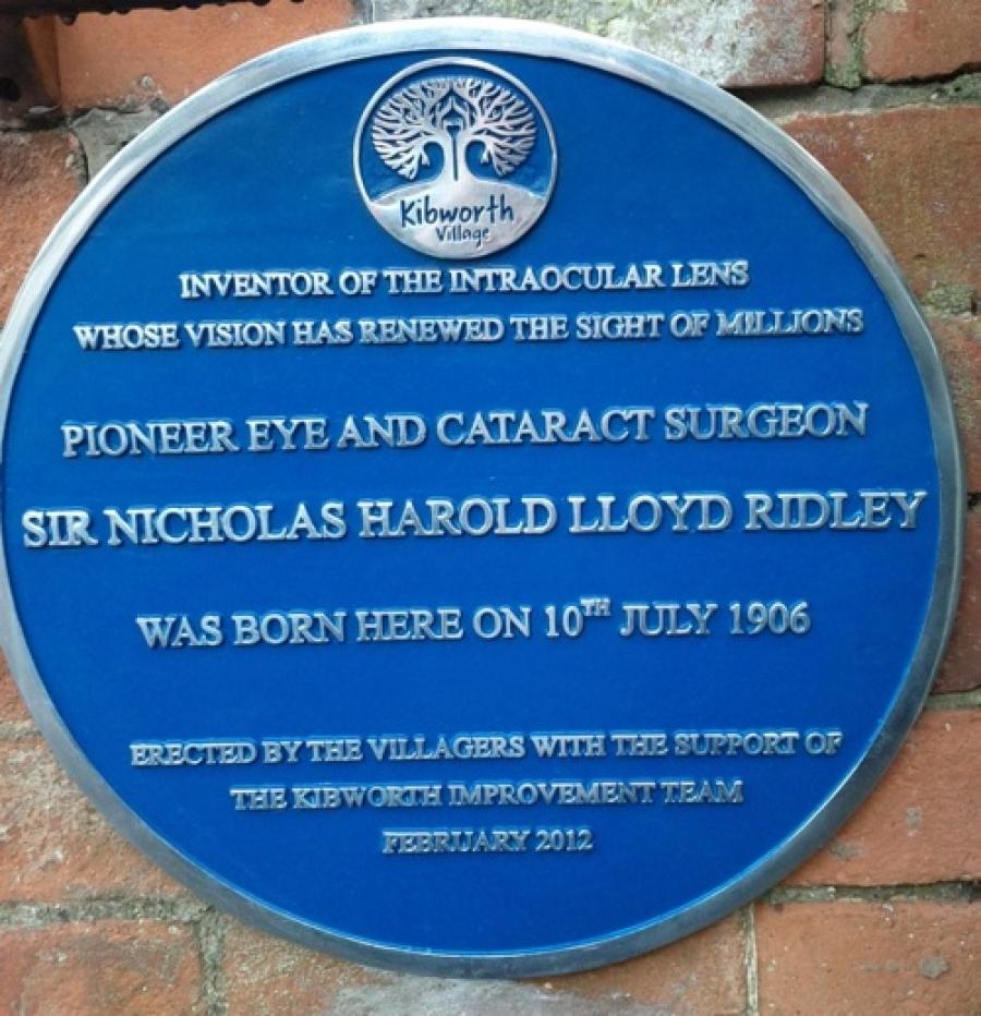Ridley's Blue Plaque