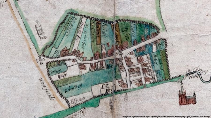 Kibworth Harcourt Map 1609